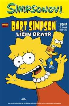 Obálka titulu Bart Simpson 3/2017: Lízin bratr