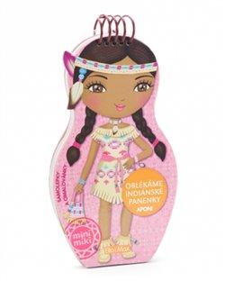 Obálka titulu Oblékáme indiánské panenky Aponi - omalovánky