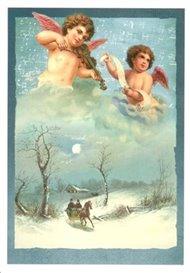 Pohlednice - Andělíčci a housličky