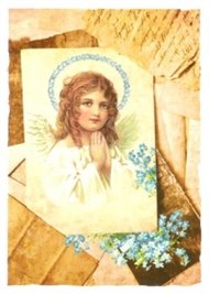 Pohlednice - Andělíček a svatozář