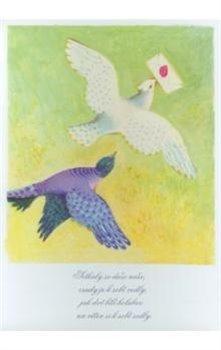 Obálka titulu Pohlednice - Dvě holubičky s dopisem
