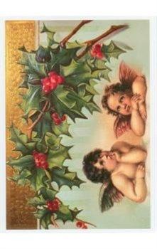 Obálka titulu Pohlednice - Vánoce, dva andělé a cesmína
