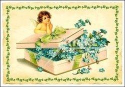 Obálka titulu Pohlednice - Andělíček a pomněnky