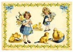 Obálka titulu Pohlednice - Kuřátka - Velikonoce