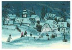 Obálka titulu Pohlednice - Zimní vesnička