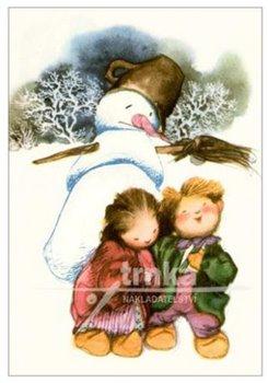 Obálka titulu Pohlednice - Květuška, chlapec, sněhulák