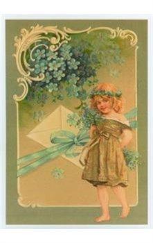 Obálka titulu Pohlednice - Děvčátko s pomněnkama a dopisem
