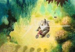 Obálka titulu Plakát - Kocour na tříkolce - Zahrada