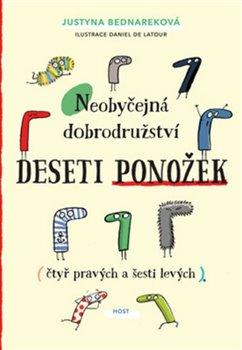 Obálka titulu Neobyčejná dobrodružství deseti ponožek (čtyř pravých a šesti levých)