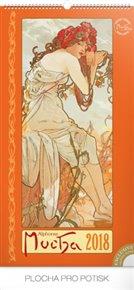 Kalendář nástěnný Alfons Mucha - 2018