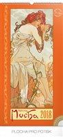 Obálka knihy Kalendář nástěnný Alfons Mucha - 2018