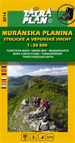 Muránska planina, Stlolické a Veporské vrchy - Turistická a cykloturistická mapa 1:50 000