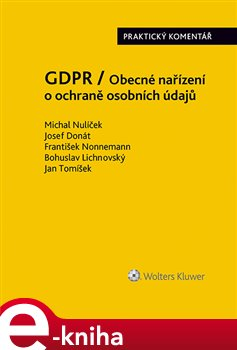 Obálka titulu GDPR / Obecné nařízení o ochraně osobních údajů