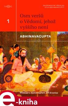 Obálka titulu Osm veršů o vědomí, jehož vyššího není
