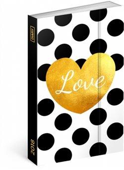 Týdenní magnetický diář Love 2018