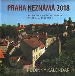 Obálka titulu Praha neznámá 2018 - kalendář