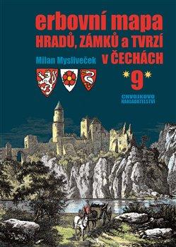 Obálka titulu Erbovní mapa hradů, zámků a tvrzí v Čechách 9
