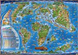 Obálka titulu Dinosauři a prehistorický svět (mapa)