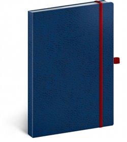 Obálka titulu Notes - Vivella Classic modrý/červený, linkovaný, 15 x 21 cm