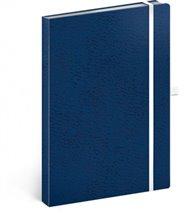 Notes - Vivella Classic modrý/bílý, linkovaný, 15 x 21 cm