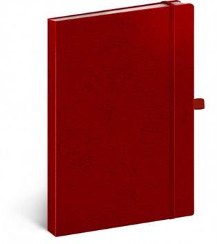 Notes - Vivella Classic červený/červený, linkovaný, 15 x 21 cm - - | Booksquad.ink