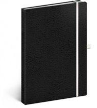 Notes - Vivella Classic černý/bílý, linkovaný, 15 x 21 cm