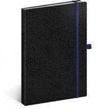 Notes - Vivella Classic černý/modrý, linkovaný, 15 x 21 cm