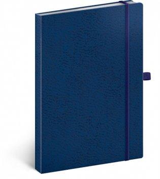 Notes - Vivella Classic modrý/modrý, tečkovaný, 15 x 21 cm - -   Booksquad.ink