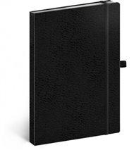 Notes - Vivella Classic černý/černý, tečkovaný, 15 x 21 cm