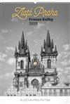 Obálka knihy Nástěnný kalendář Zlatá Praha Franze Kafky 2019