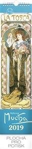 Nástěnný kalendář Alfons Mucha 2019