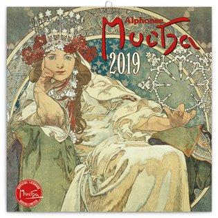 Poznámkový kalendář Alfons Mucha 2019 - -   Booksquad.ink