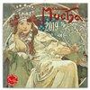 Obálka knihy Poznámkový kalendář Alfons Mucha 2019