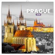 Poznámkový kalendář Praha černobílá 2019
