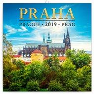 Poznámkový kalendář Praha mini 2019