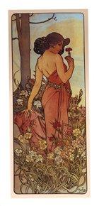 Pohled Alfons Mucha – Carnation, dlouhý