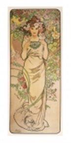 Pohled Alfons Mucha – Rose, dlouhý
