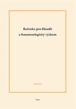 Obálka titulu Ročenka pro filosofii a fenomenologický výzkum 2017