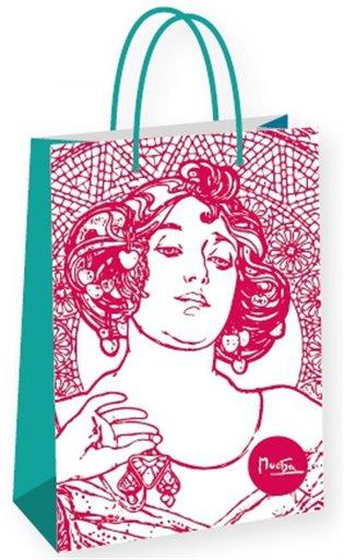 Dárková taška Alfons Mucha – Ruby, Fresh Collection, velká - -   Booksquad.ink