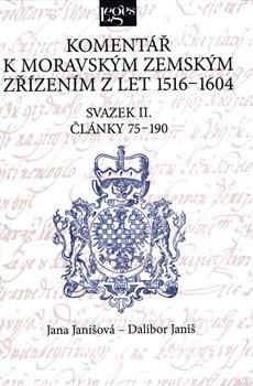 Obálka titulu Komentář k moravským zemským zřízením z let 1516-1604