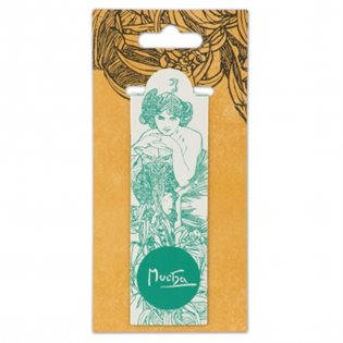 Magnetická záložka Alfons Mucha – Emerald, Fresh Collection - - | Booksquad.ink