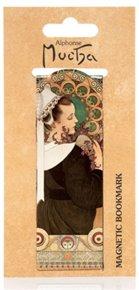 Magnetická záložka Alfons Mucha – Heather