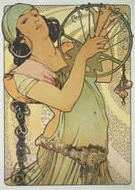 Pohled Alfons Mucha – Salome, krátký