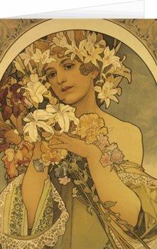 Obálka titulu Blahopřání Alfons Mucha – Flower