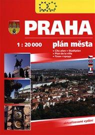 Praha plán města 2017 - 1:20 000