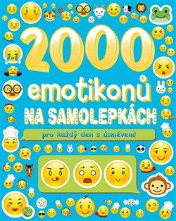 Obálka titulu 2000 emotikonů na samolepkách pro každý den s úsměvem