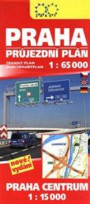 Praha průjezdní plán 1:65 000 + Praha Centrum 1:15 000