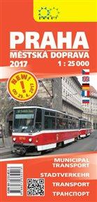 PRAHA 1:25 000 - městská doprava 2017