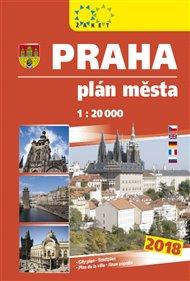 Praha - plán města 1:20 000