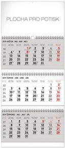 Nástěnný kalendář 3 měsíční standard skládací CZ 2019